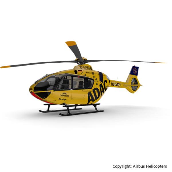 Grafik des Hubschraubertyps H135 der ADAC Luftrettung