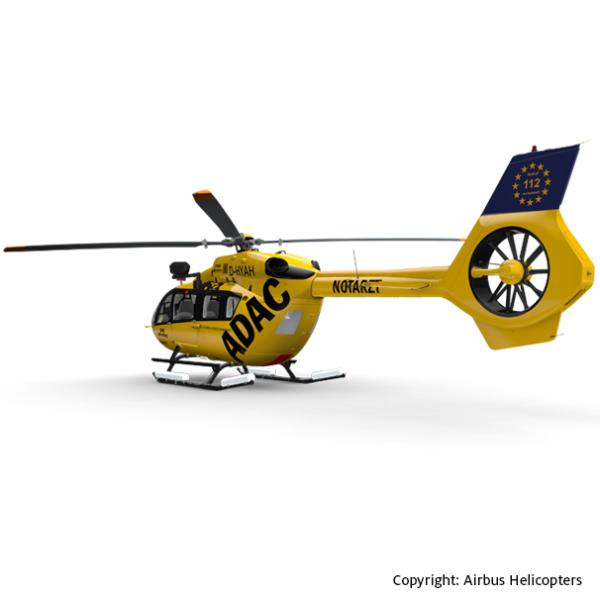 Grafik des Hubschraubertyps H145 der ADAC Luftrettung