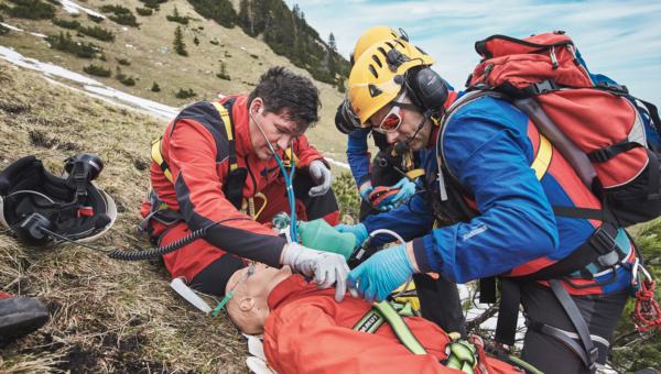Foto eines Trainingseinsatz mit Notarzt