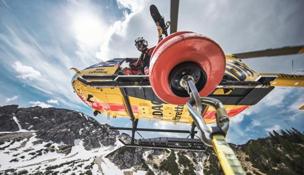 Windenrettung bei der ADAC Luftrettung
