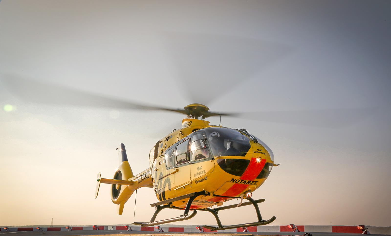 Foto des Hubschrauber der Station Christoph 40