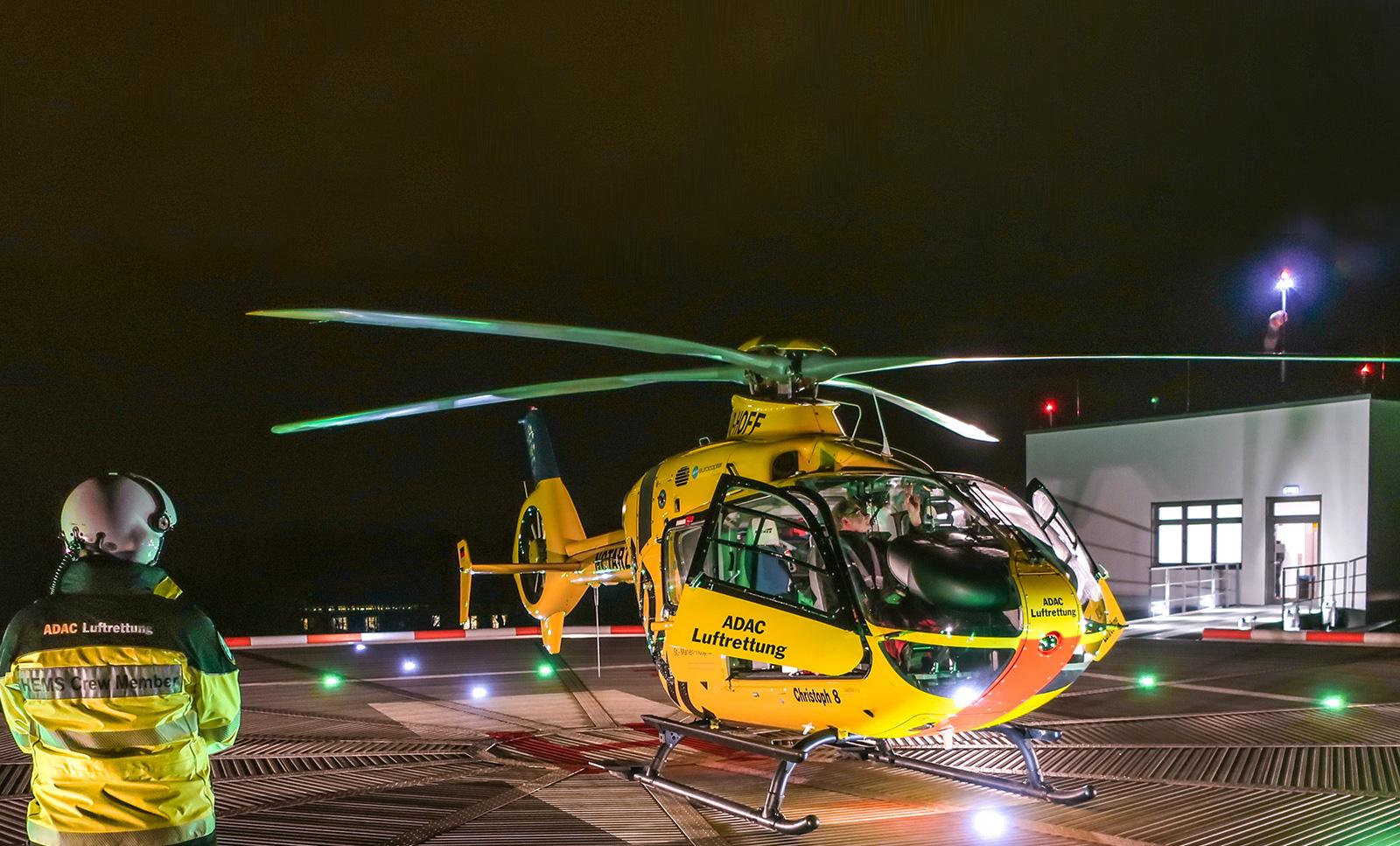 Foto von Rettungseinsatz der ADAC Luftrettung